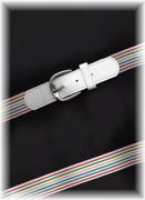 White Striped Stretch Belt