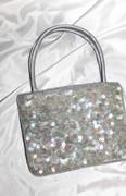 Shimmery Gray Sequined Chic Handbag