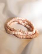 Pink Puka Shell Stretch Bracelet