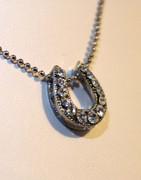 Sliding Rhinestone Horseshoe Necklace
