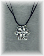 Grande Countess Rhinestone Flower Necklace