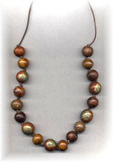 Wooden Golden Leaf Necklace