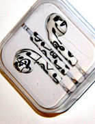 Black and White Music Notes Headphones
