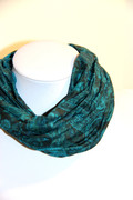 Teal Paisley Yoga Head Wrap