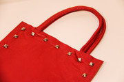 "The ""Red Square"" Studded Leather Bag"