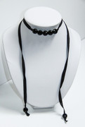 Courtesan Choker Necklace with Black Beads