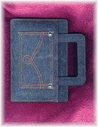 Denim Diary / Notebook with Pull Out Handles