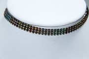 Multi-Color Mesh Choker Necklace