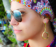 Golden Infinity Loop Earrings