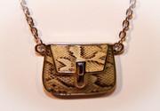 Snake Skin Handbag Pendant Necklace