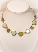 Mint Green Mosaic Necklace