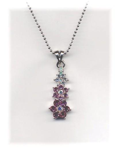 Gradient Pink Flower Necklace