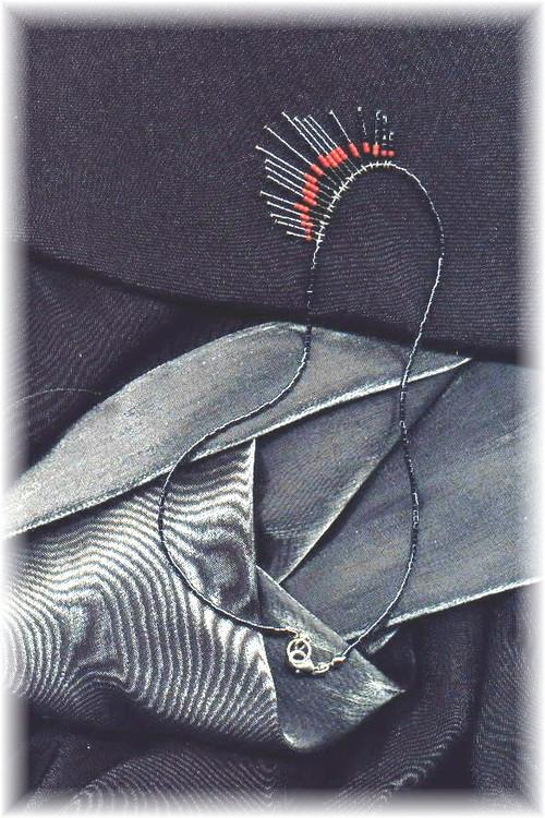Hematite Fire Necklace