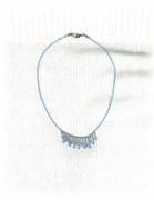 Baby Blue Rain Drops Necklace