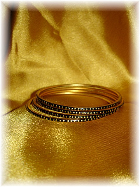 Golden Tarnished Indian Bangles