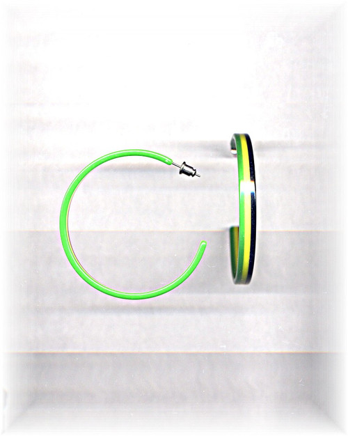 Green Tri-Color Hoops