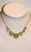 Lime Green Peridot Cinderella Necklace