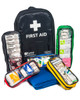 Mobile Sports First Aid Kit in Rucksack   Showing Pull-Out Internal Compartments   Physical Sports First Aid
