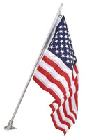 Flag - Pole with angled tear drop socket