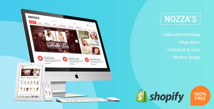 Free Fashion Store Shopify Theme - Nozza