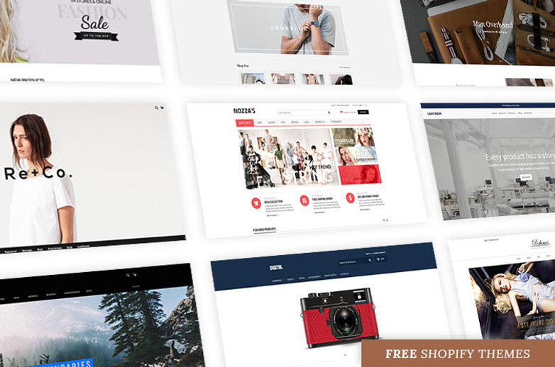 10+ Best free Shopify themes new updated in 2018