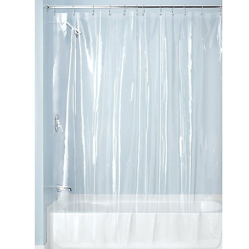 clear shower curtain with design. Clear Vinyl Shower Curtain Liner  Gracious Home
