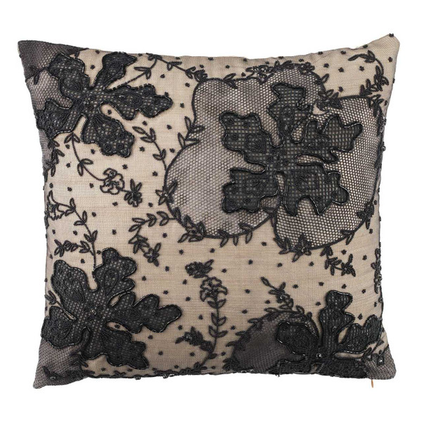 Olivia Riegel  Naomi 18X18 Pillow Black