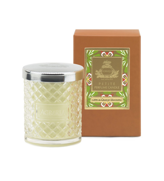 Agraria Lime & Orange Blossoms Crystal Candle