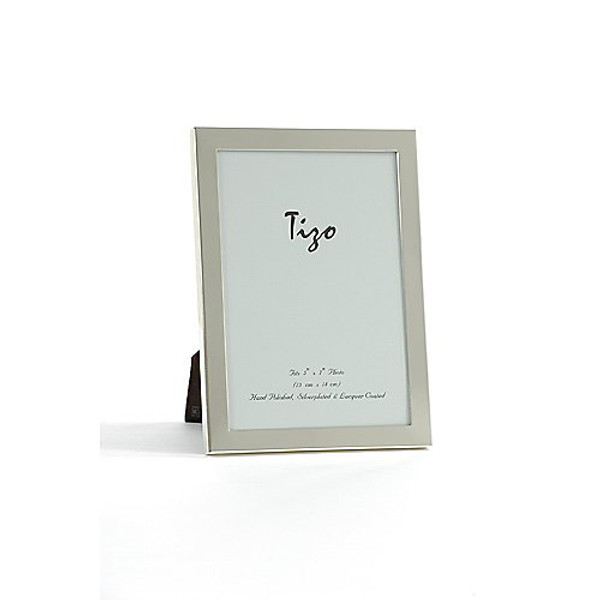 Tizo Simple Silver Border Double Frames