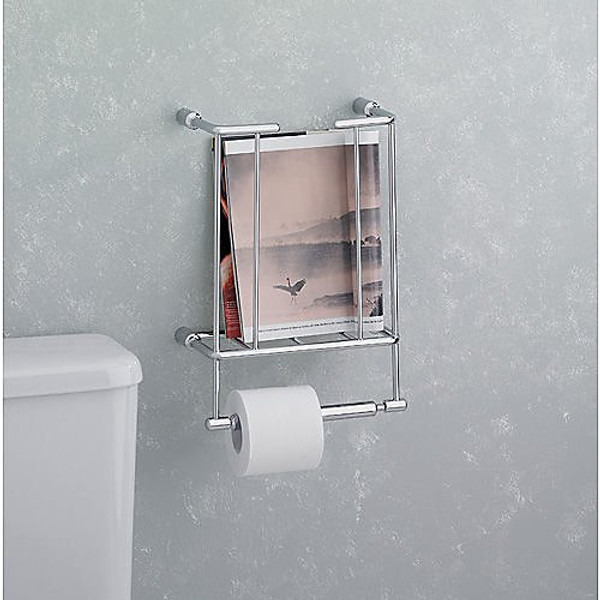 Valsan Essentials Magazine Rack with Tissue Holder