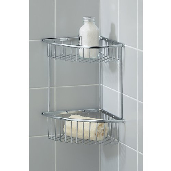 Valsan Essentials Medium Double Corner Soap Basket