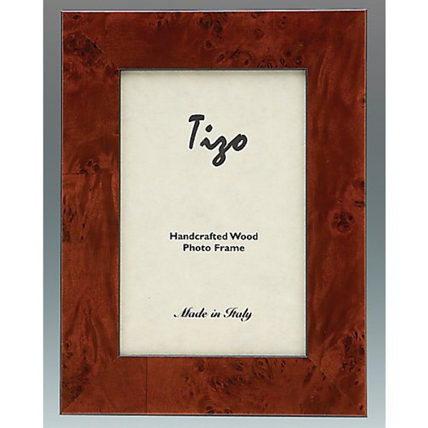 "Tizo Burl Wide Wood Double Frames, 4""x6"""