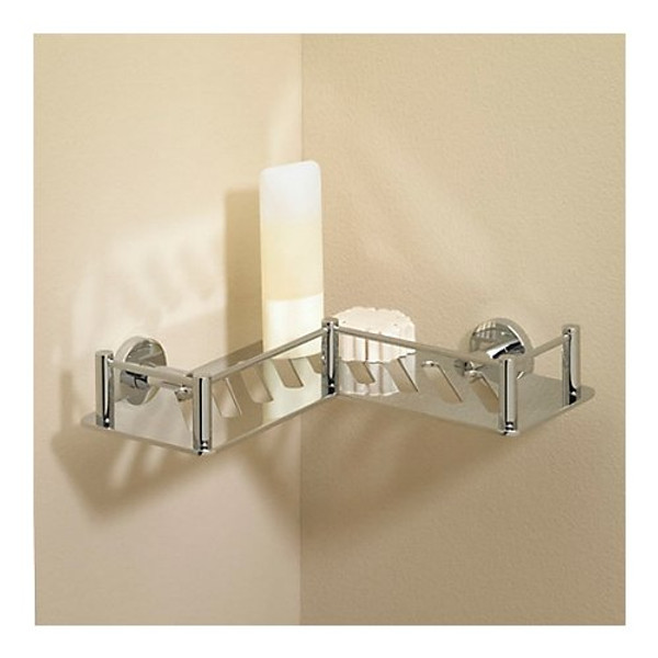 Valsan Essentials L-Shape Shower Shelf