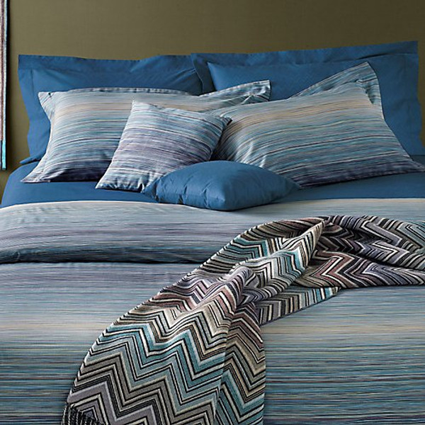 Missoni Home Jill Blue Sham Pair