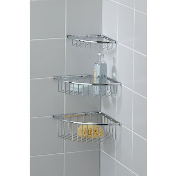 Valsan Essentials Corner Wire Soap Basket