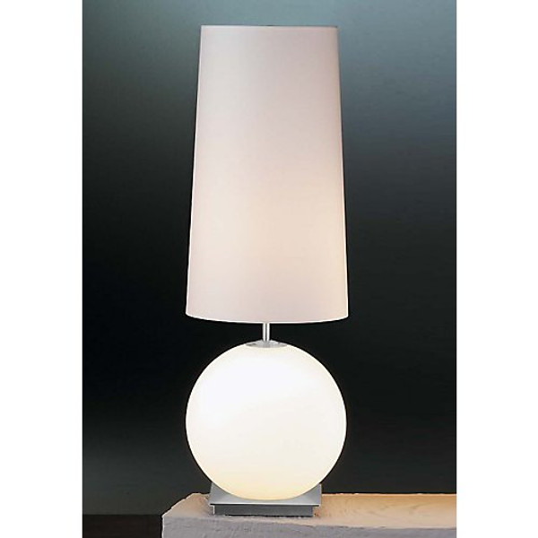 Holtkoetter Galileo Table Lamp with Lighted Satin White Glass Base