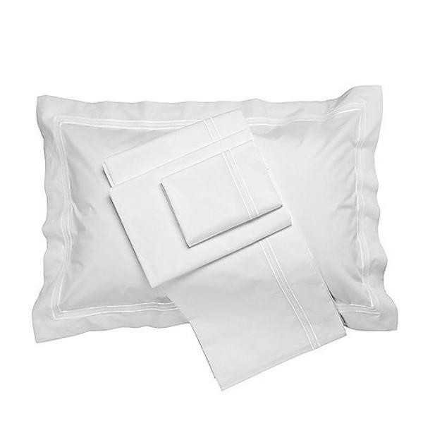 Frette Tre Bourdon White Sheet Set