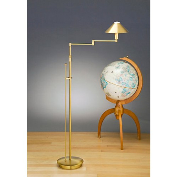 Holtkoetter Aging Eye Swing Arm Floor Lamp with Metal Shade