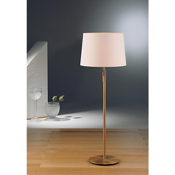 Holtkoetter Illuminator Floor Lamp in Antique Brass with Fabric Shade #2545