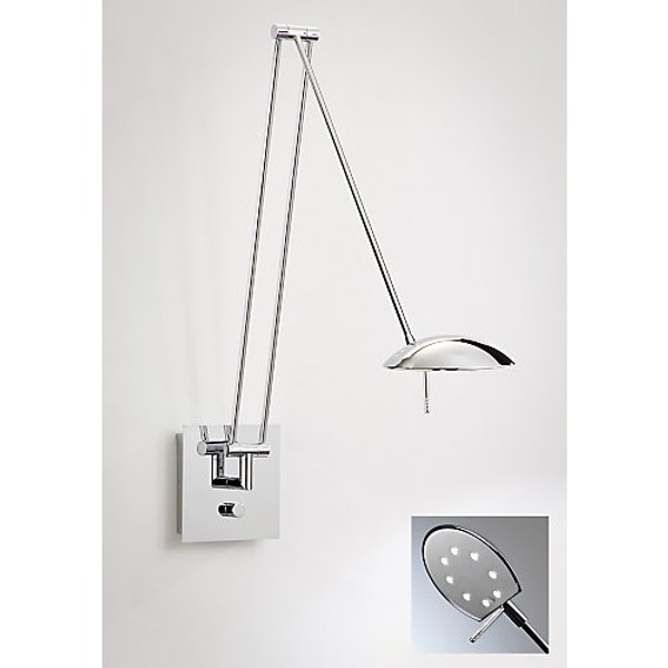 Holtkoetter Bernie Turbo Extension LED Swing Arm Sconce