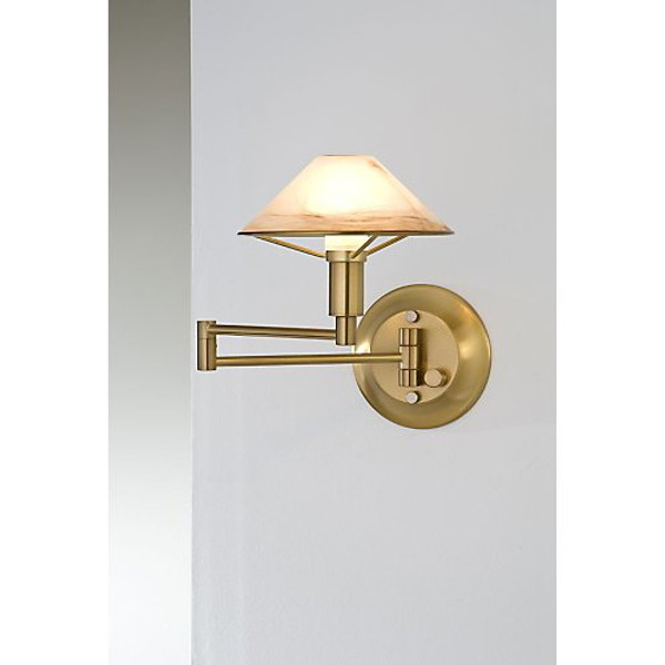 Holtkoetter Aging Eye Sconce in Antique Brass #9426