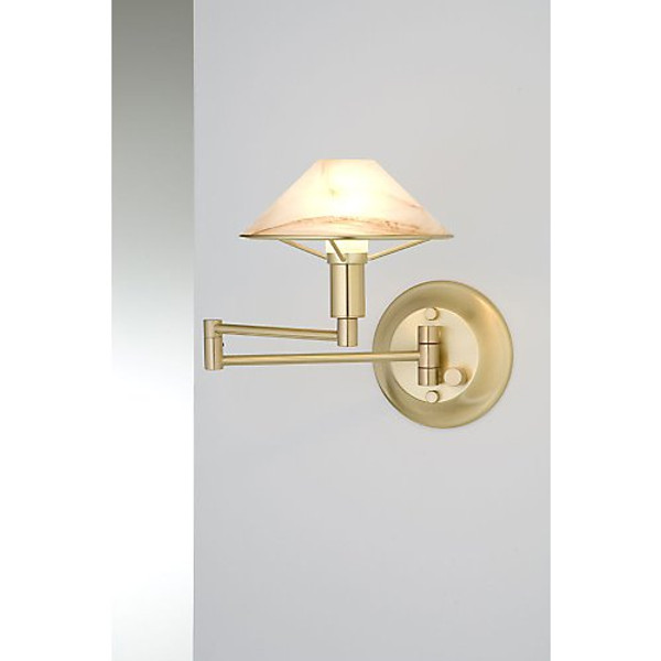Holtkoetter Aging Eye Sconce in Brushed Brass
