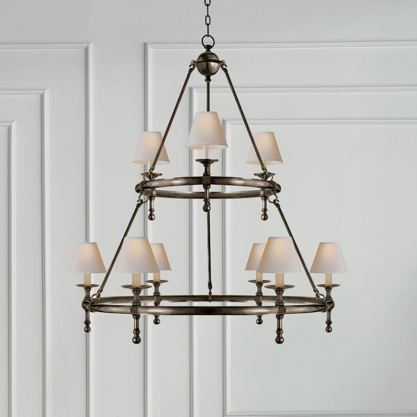 E.F. Chapman Classic Two-Tier Ring Chandelier