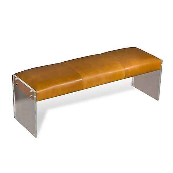 Interlude Home Aiden Leather Bench