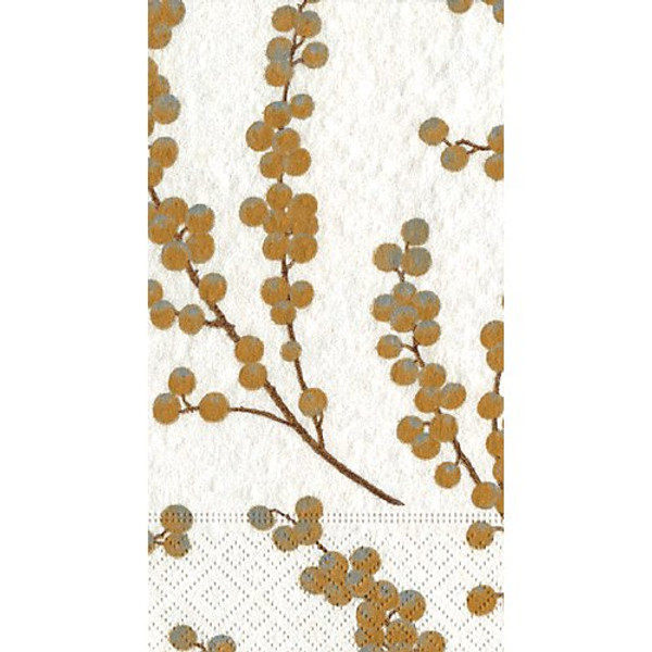 Caspari Berry Branches Guest Towel