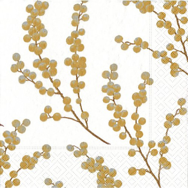 Caspari Berry Branches Lunch Napkin