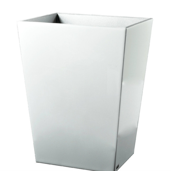 Mike & Ally Essentials Pure White Straight Wastebasket
