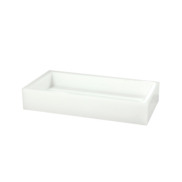 Mike & Ally White Ice Flat Towel Holder & Vanity Tray