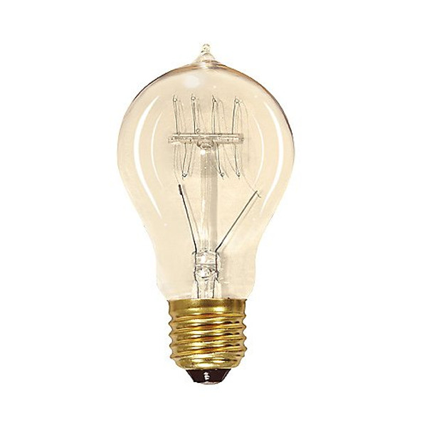 Satco 25W A19/E26 Vintage Quad Loop Incandescent Clear