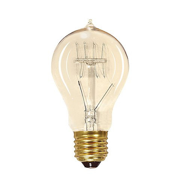 Satco 40W A19/E26 Vintage Quad Loop Incandescent Clear